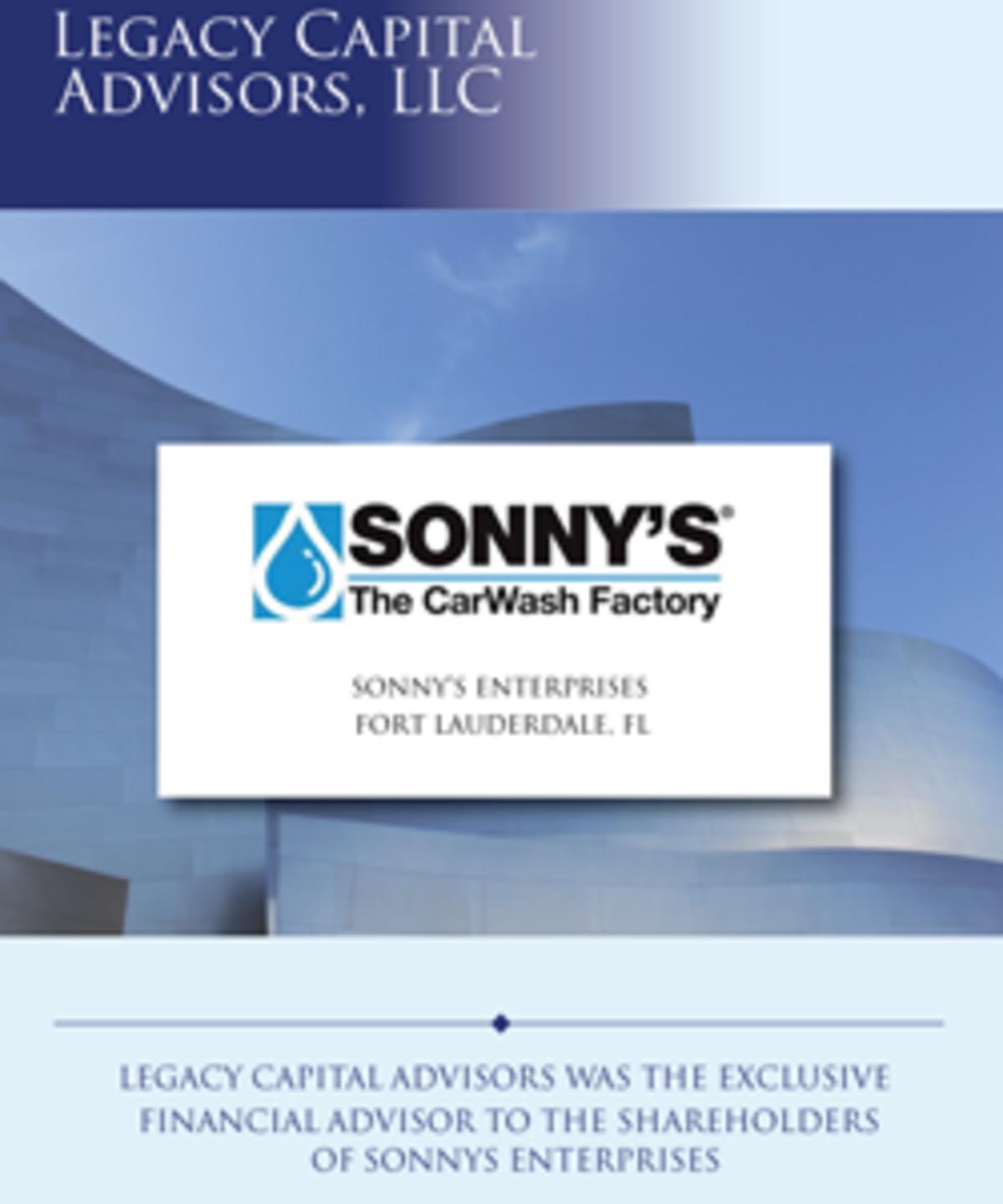 Sonny's Enterprises, Inc  | Legacy Capital Advisors, LLC